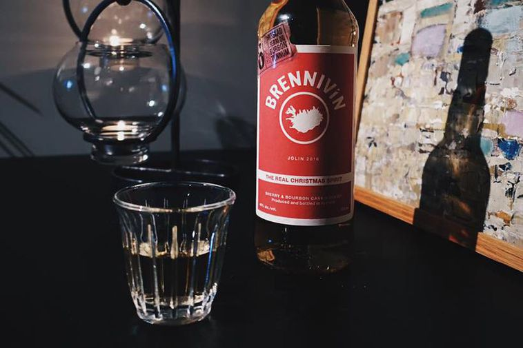 There is a festive version of the Icelandic spirit Brennivín, also known as Black Death.