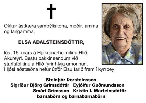 Elsa Aðalsteinsdóttir,