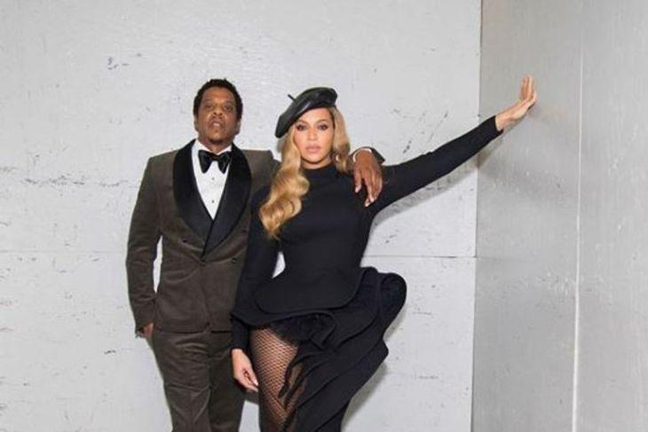 Hjónin Jay-z og Beyoncé.