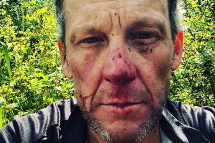 Myndin sem Armstrong birti.