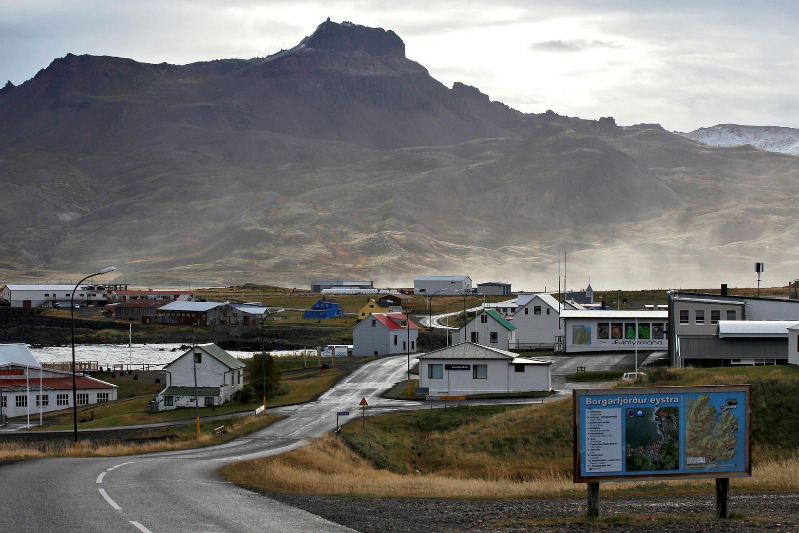 Afskekkt. Íbúar á Borgarfirði eystri gæta vel að sóttvörnum þótt …