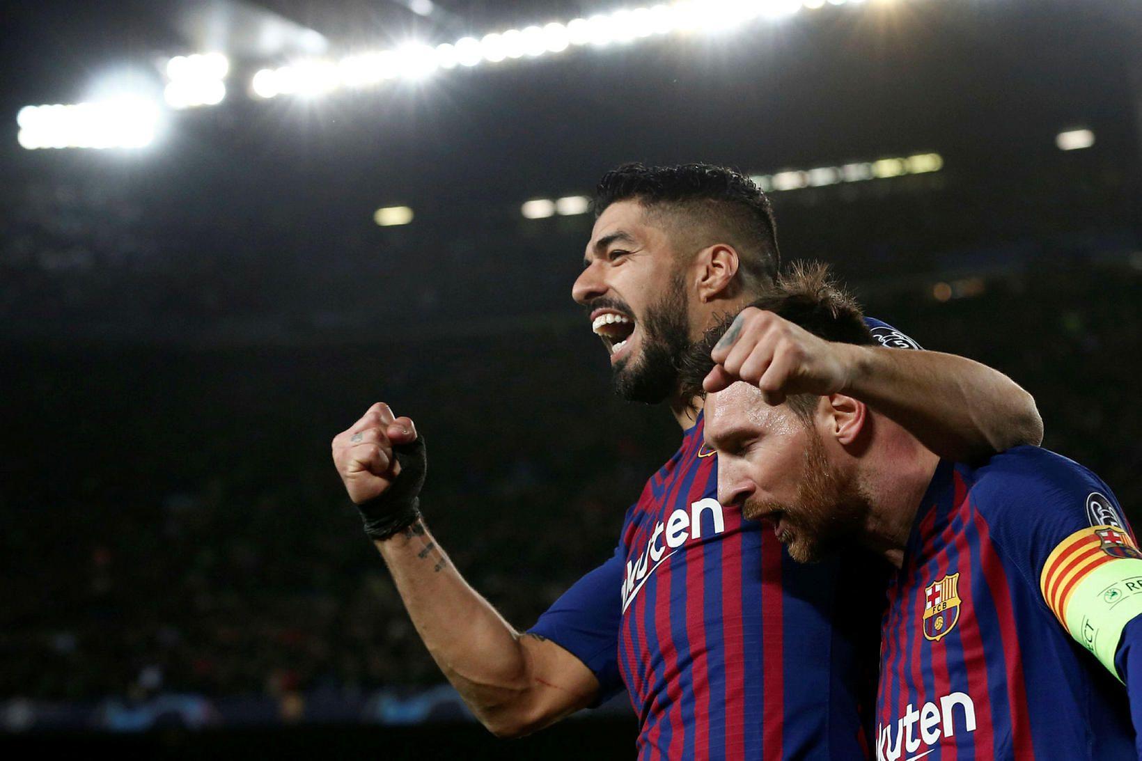 Lionel Messi og Luis Suárez eru bestu vinir utan vallar.