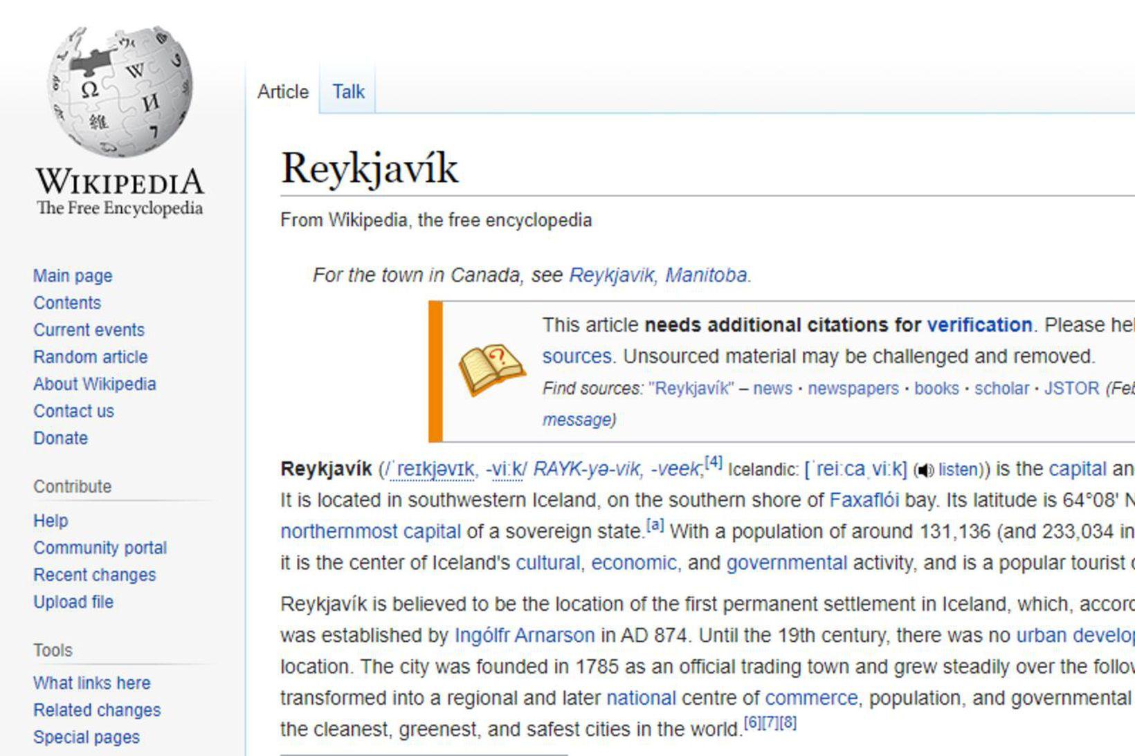 Með því að uppfæra Wikipediu-síðu bæjarins má auðveldlega auka hagnað …