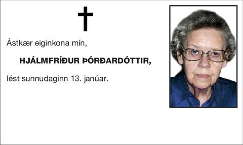Hjálmfríður Þórðardóttir,