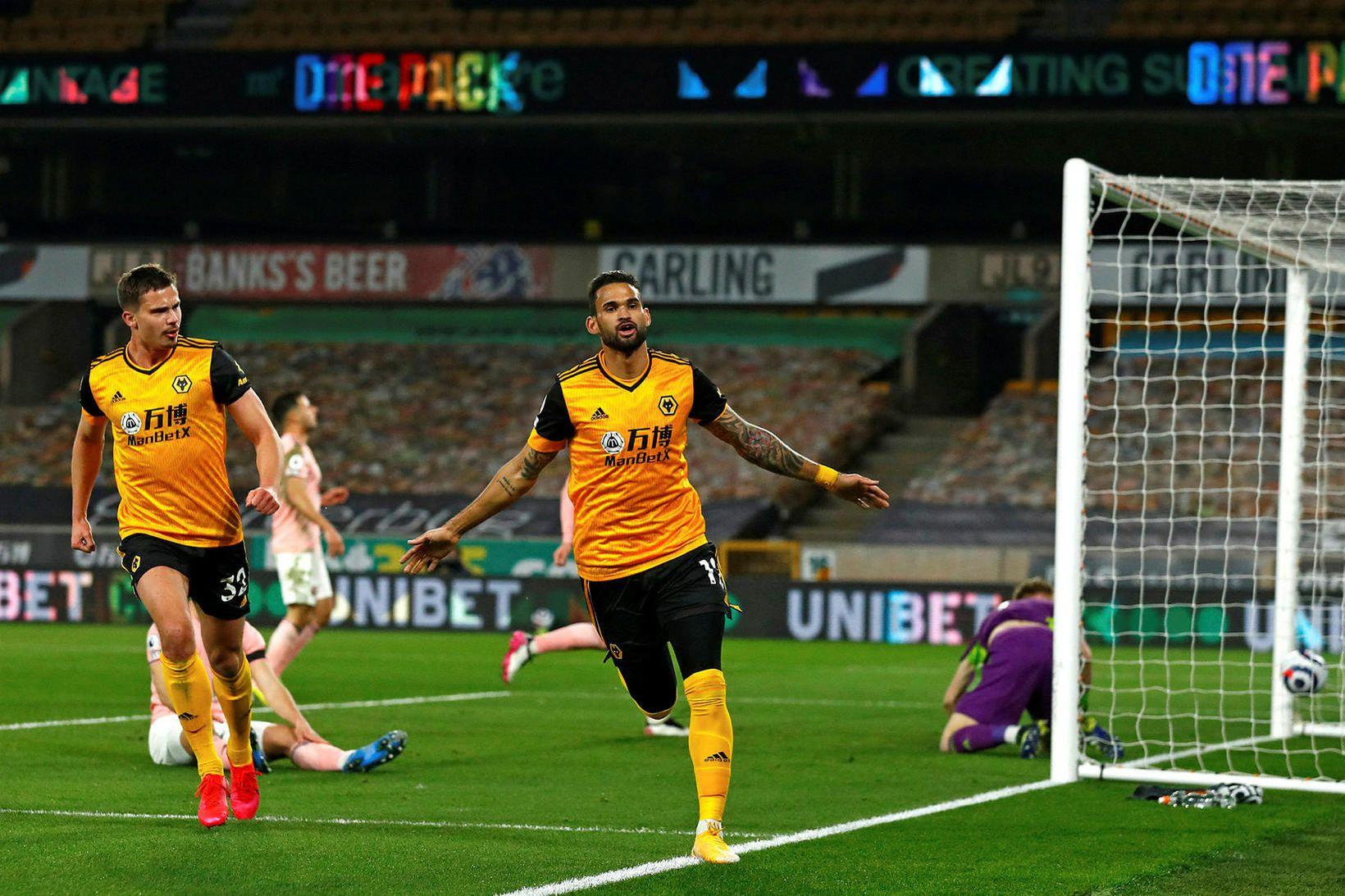 William José fagnar sigurmarki Wolves gegn Sheffield United um síðustu …