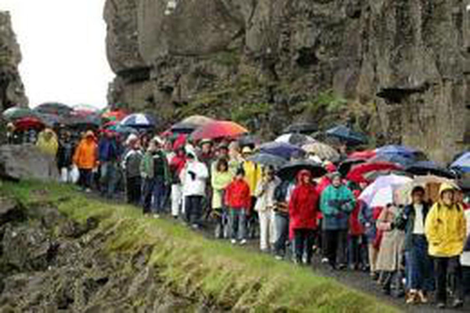 Þingvellir eru á heimsminjaskrá UNESCO.