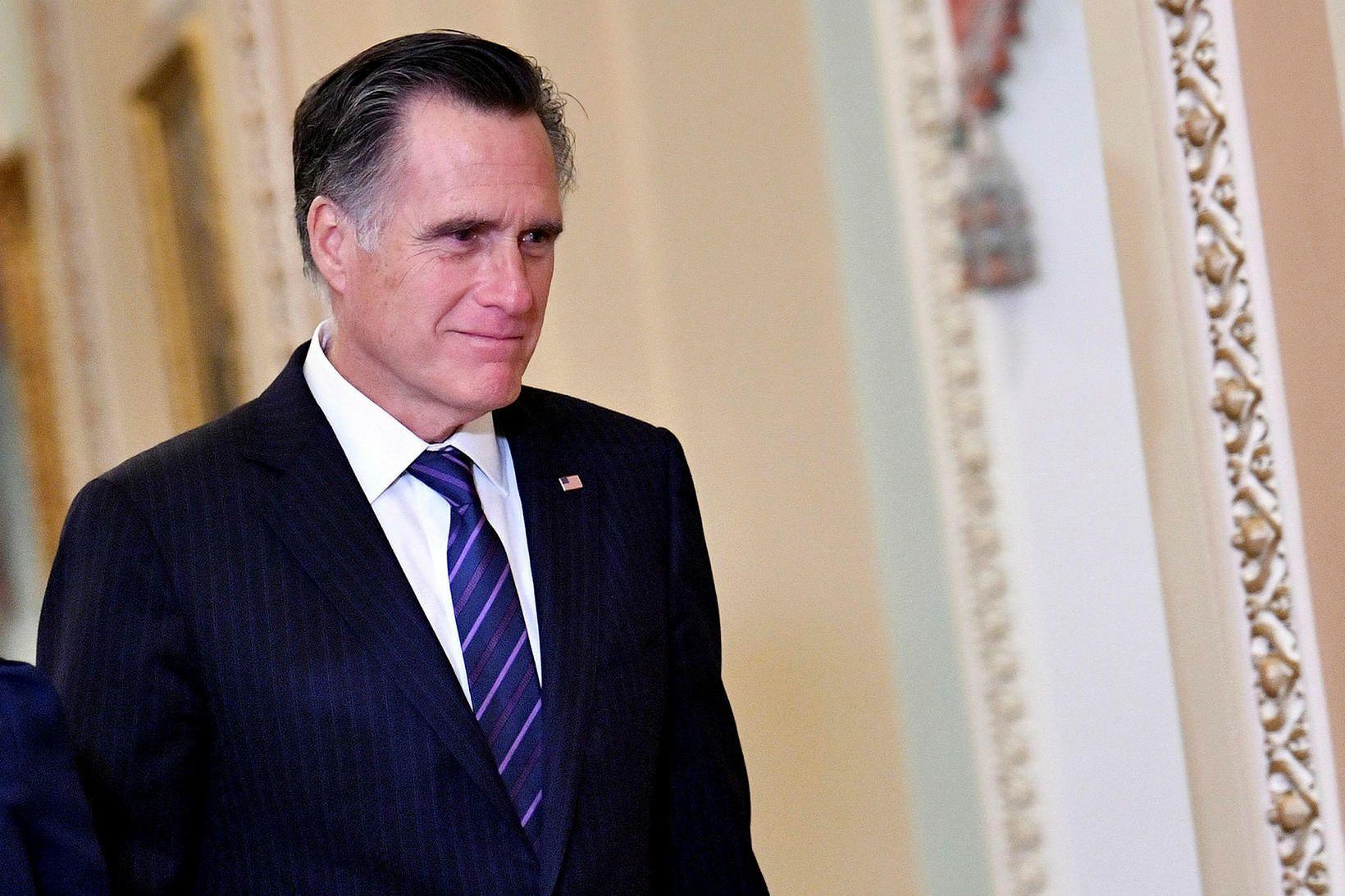 Mitt Romney skráði sig í sögubækurnar með atkvæði sínu í …