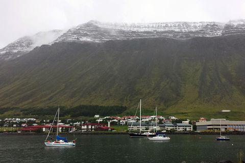 Ísafjörður in the West Fjords of Iceland.