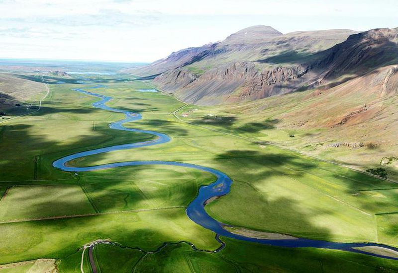 The Lake Valley, or Vatnsdalur in North Iceland is a lush green area perfect for dew-bathing.