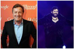 Piers Morgan vandar tónlistarmanninum James Newman ekki kveðjurnar eftir slaka frammistöðu í Eurovision um helgina.