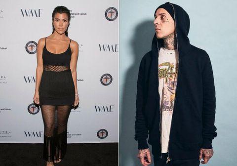 Kourtney Kardashian og Travis Barker.