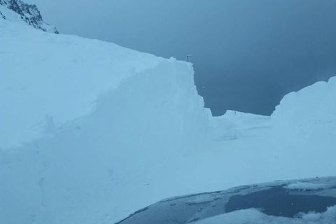 Driving into an avalanche danger zone is not a great idea.
