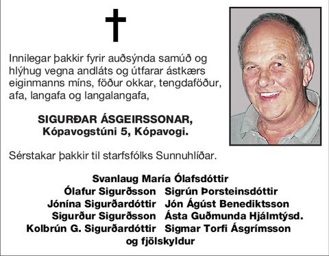 Sigurðar Ásgeirssonar,