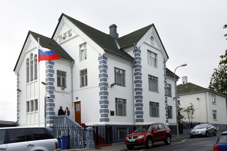 The Russian Embassy in central Reykjavik.