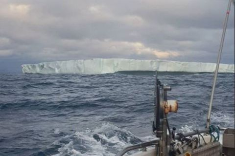 An enormous iceberg was seen from a trawler last night.
