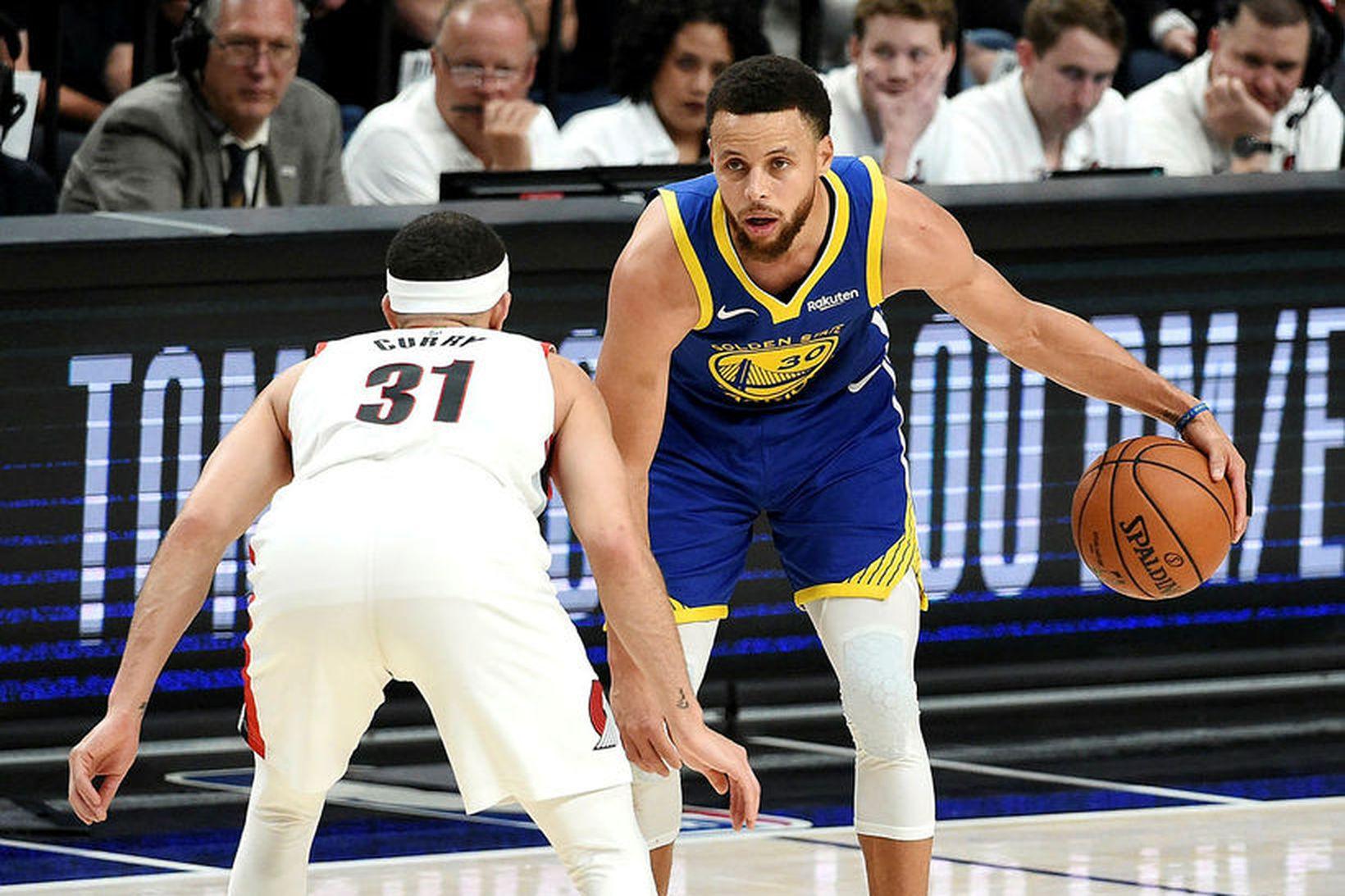 Stephen Curry skoraði 36 stig fyrir Golden State.