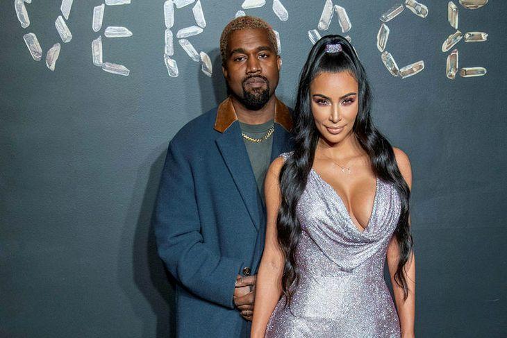 Kanye West og Kim Kardashian eiga þrjú börn fyrir.