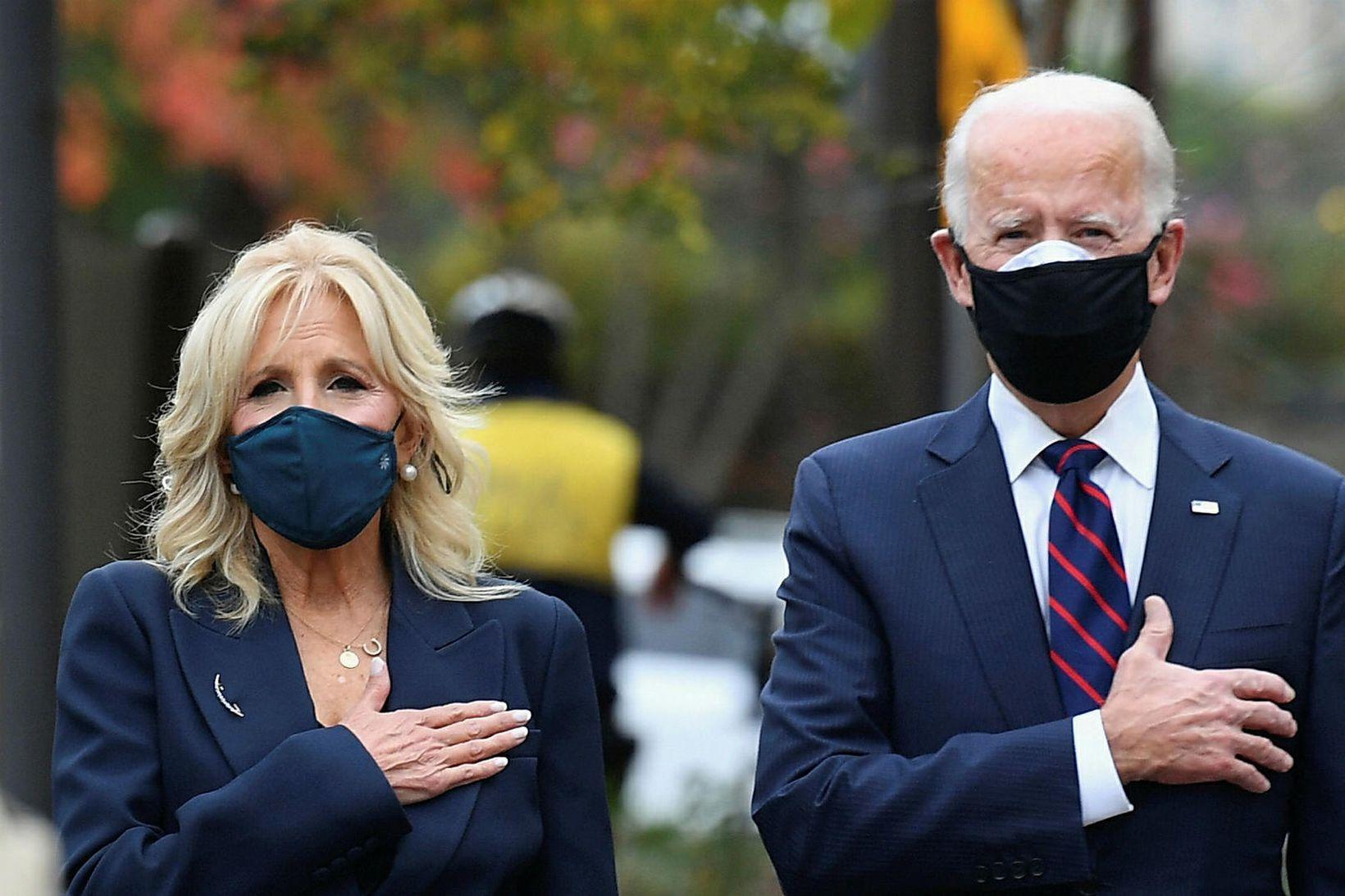 Jill og Joe Biden verða næstu forsetahjón Bandaríkjanna.