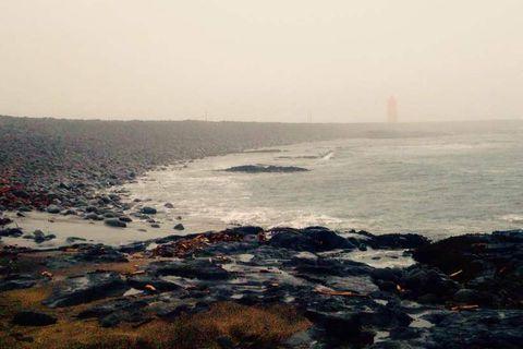 The beach where Birna's body was found.