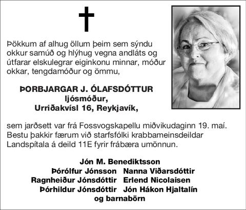 Þorbjargar J. Ólafsdóttur