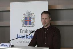 Jóhann Björn Skúlason, yfirmaður smitrakningarteymis almannavarna.