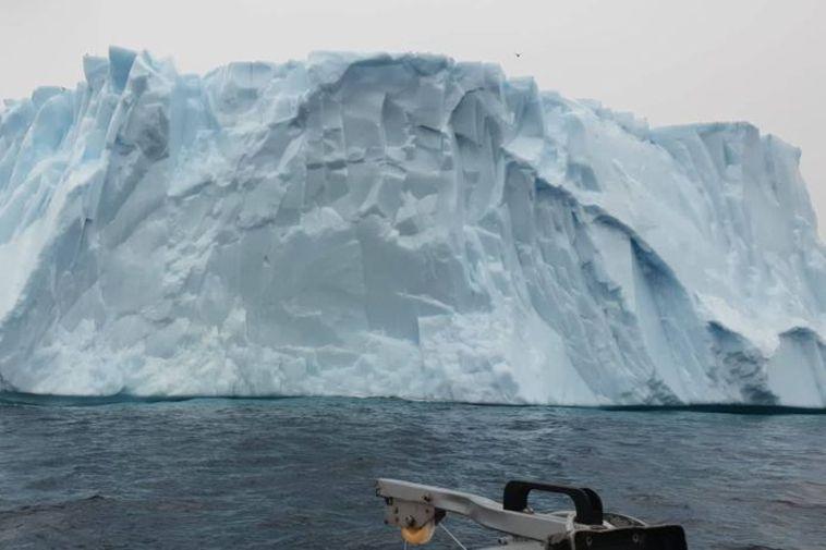 The iceberg spotted by Guðmundur Gísli Geirdal.