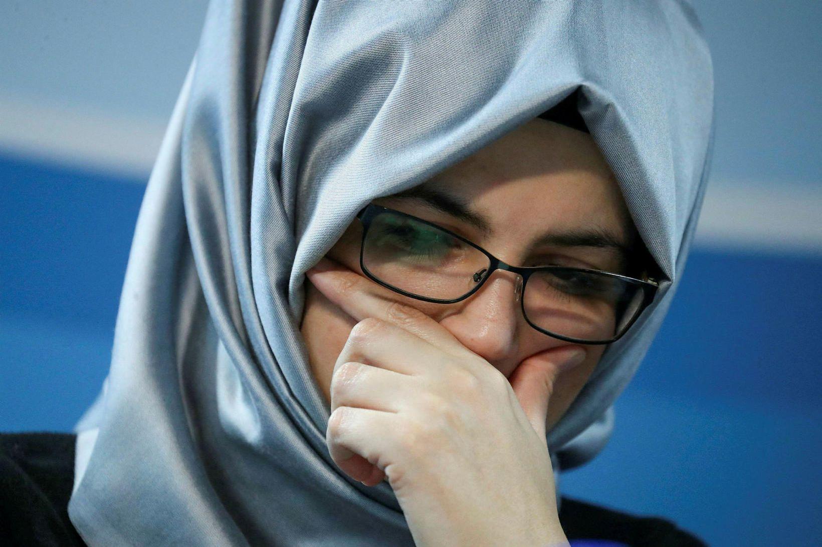 Hatice Cengiz, unnusta Jamal Khashoggi.
