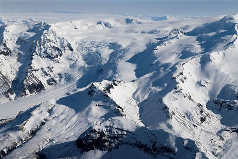 Öræfajökull volcano.
