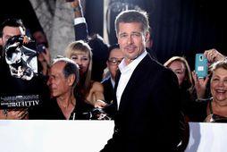 Brad Pitt mætti á frumsýningu nýjustu kvikmyndar sinnar í gær.