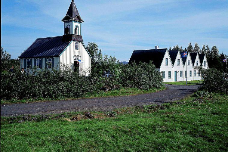 Þingvallakirkja church, Þingvellir National Park.