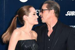 Angelina Jolie og Brad Pitt árið 2014 þegar allt lék í lyndi.