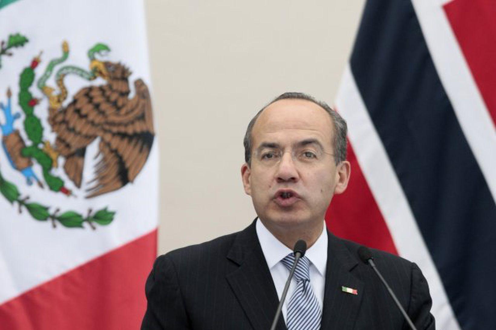 Felipe Calderon, forseti Mexíkó.