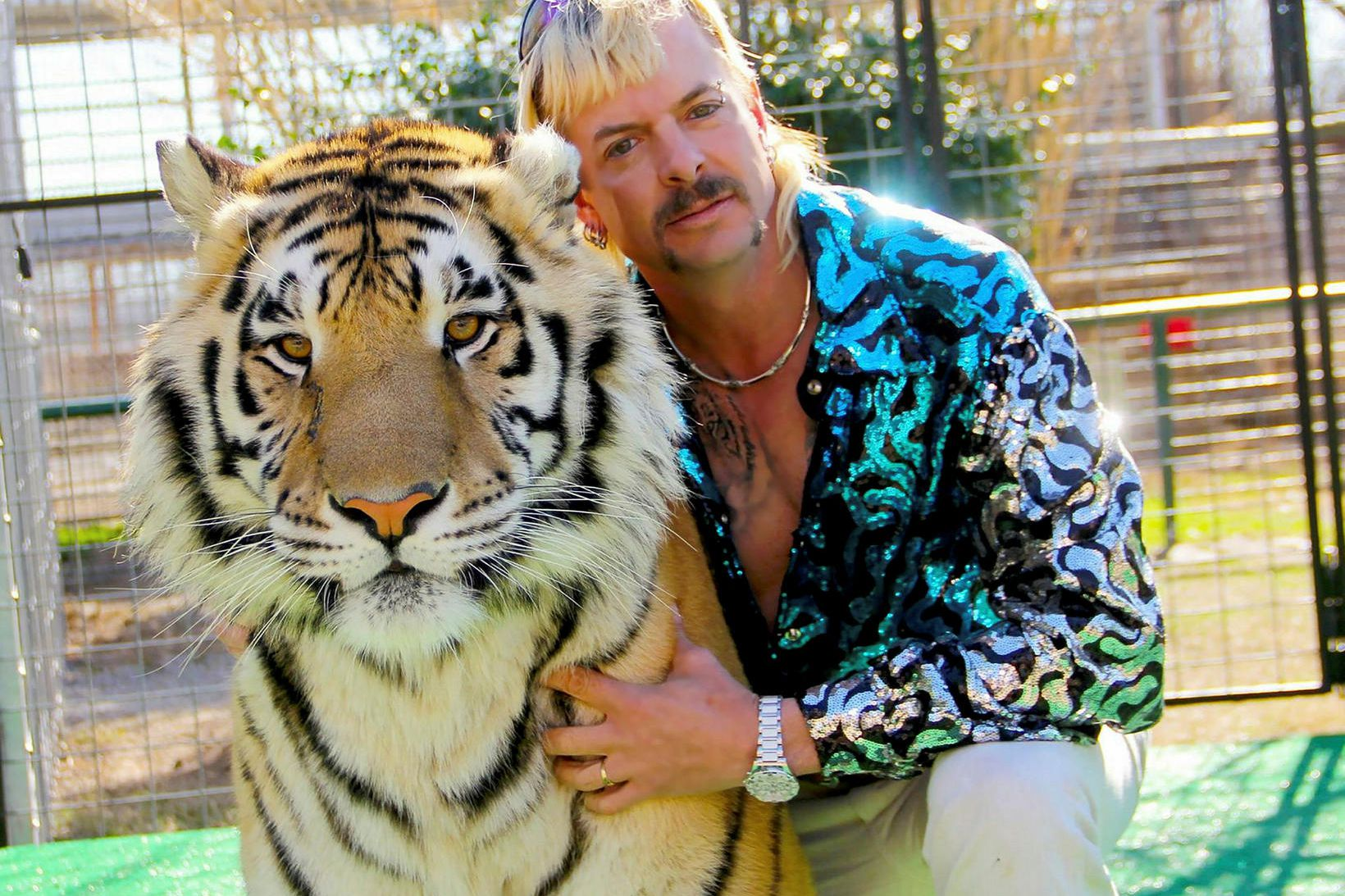 Joe Exotic var stjarna þáttanna Tiger King.