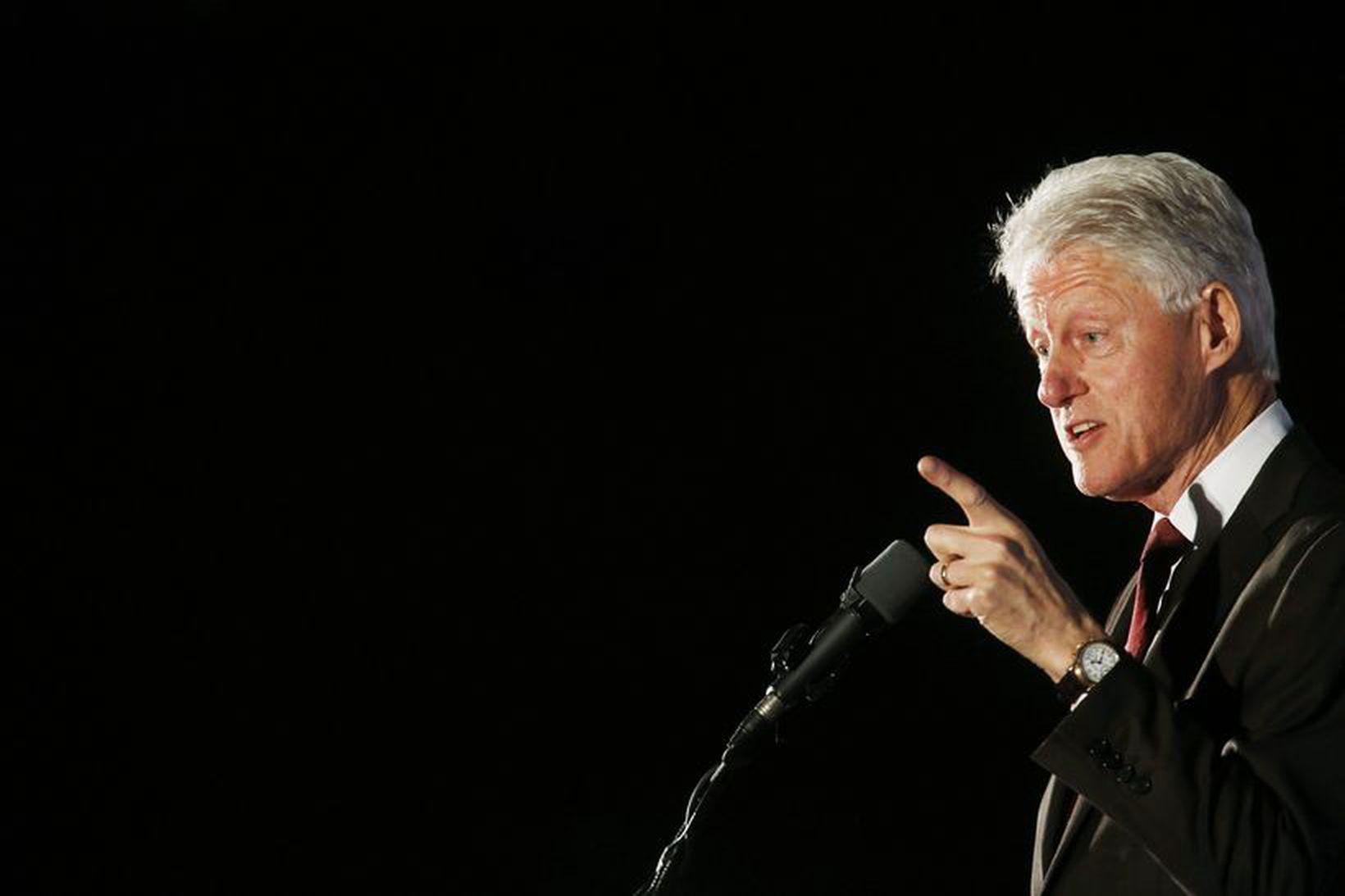 Bill Clinton ruglaðist á öllum nöfnunum í Njálu.