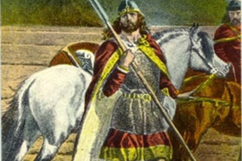 Gunnar, Njáll's great friend - and love interest, according to some - in the classic Icelandic saga.