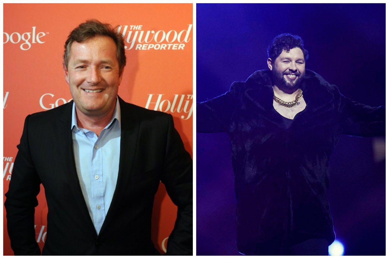 Piers Morgan vandar tónlistarmanninum James Newman ekki kveðjurnar eftir slaka …