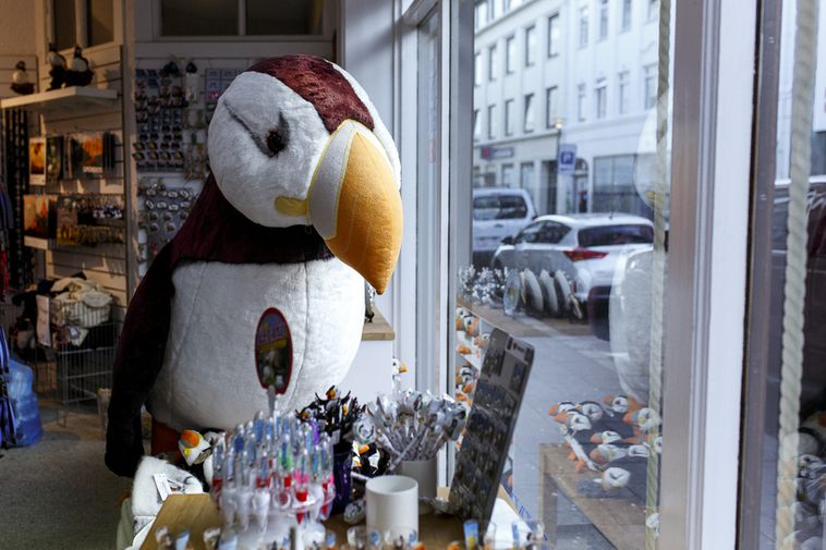 Tourists aren't shopping for puffin toys so much anymore.