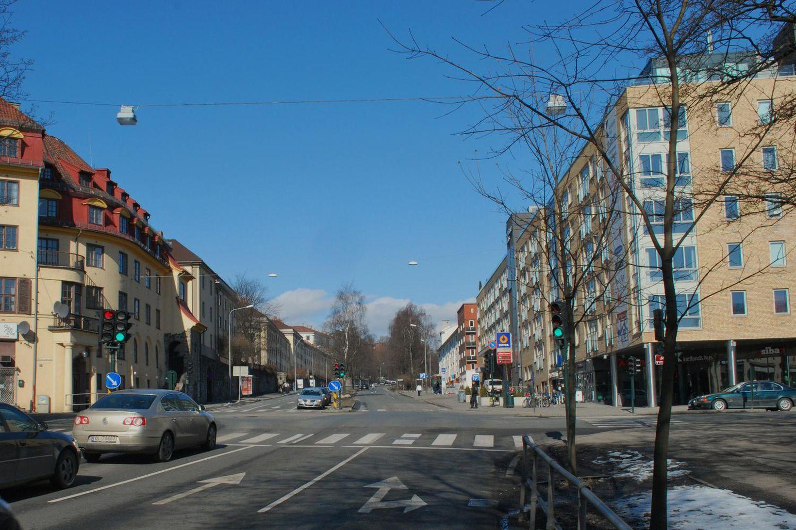 Horft norður Uelands gate í Austur-Ósló. Gatan heitir eftir norska …
