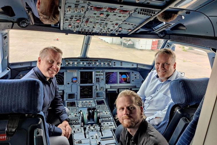 From left to right Halldór Guðfinnsson, Andri Geir Eyjólfsson and Friðrik Ottesen preparing TF-AEW for …