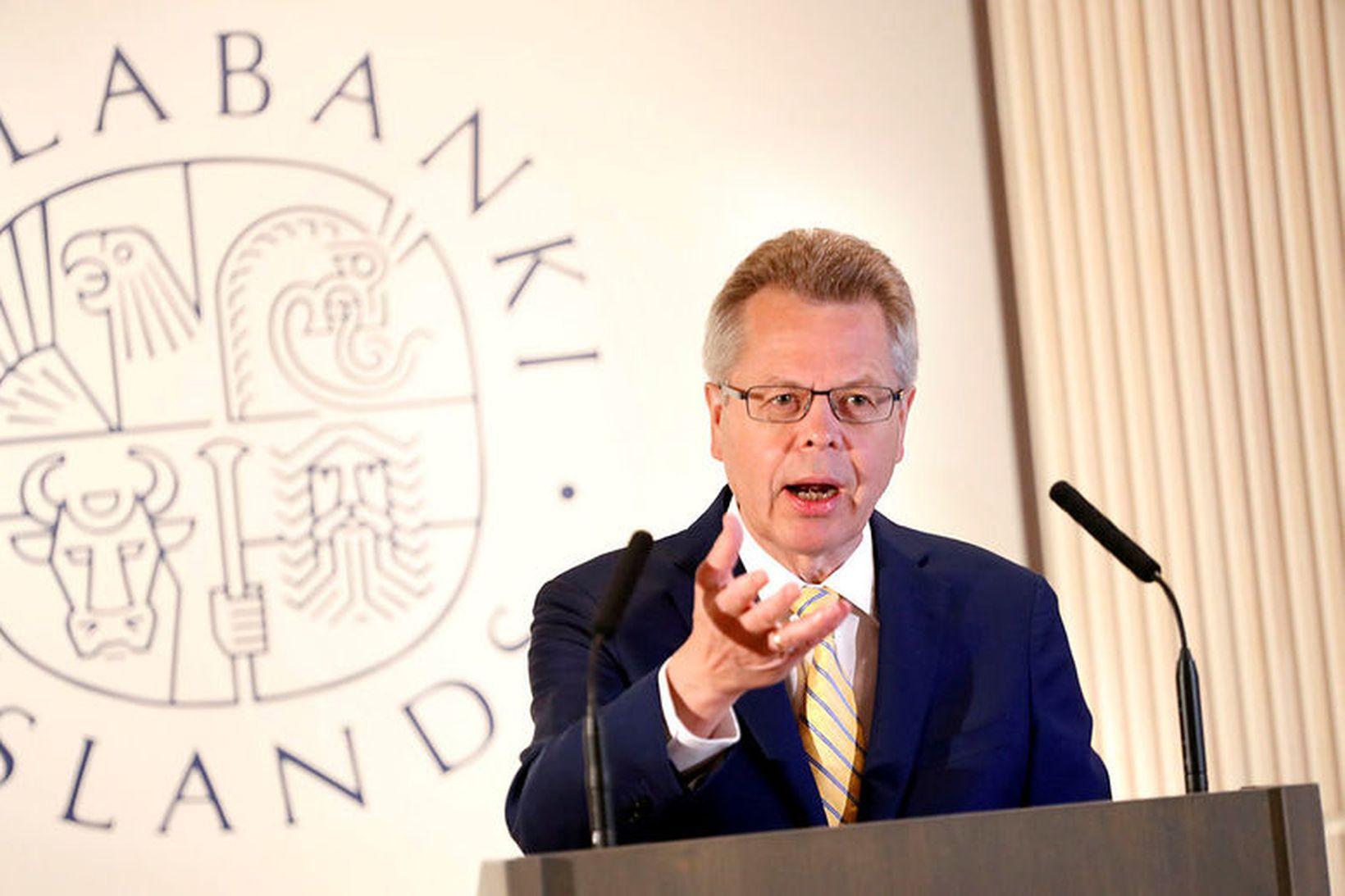 Már Guðmundsson, fráfarandi seðlabankastjóri.