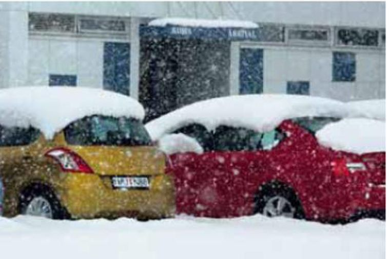 Five inches of snow greeted residents of Ísafjörður (Northern Iceland) yesterday.