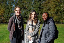 Rakel Ósk Reynisdóttir, Lenya Rún Taha Karim og Derek Terell Allen.