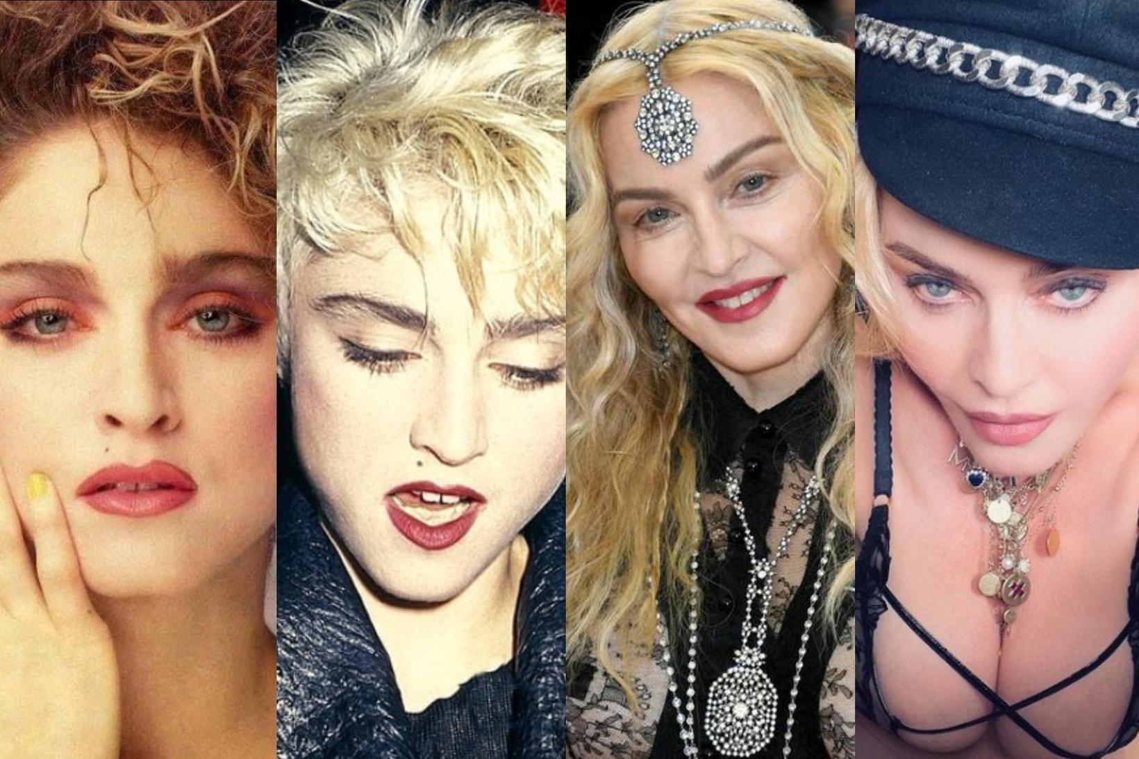 Madonna hefur leikið sér með tískustrauma.
