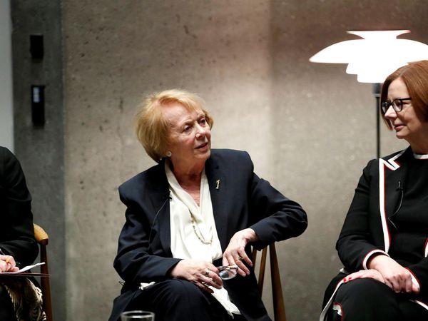 Irma Erlingsdóttir, Vigdís Finnbogadóttir and Julia Gillard at the Council of Women World Leaders in Reykjavík.