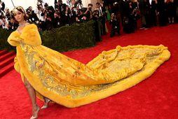 Rihanna var alveg út úr kú í gær á Met Gala ballinu.