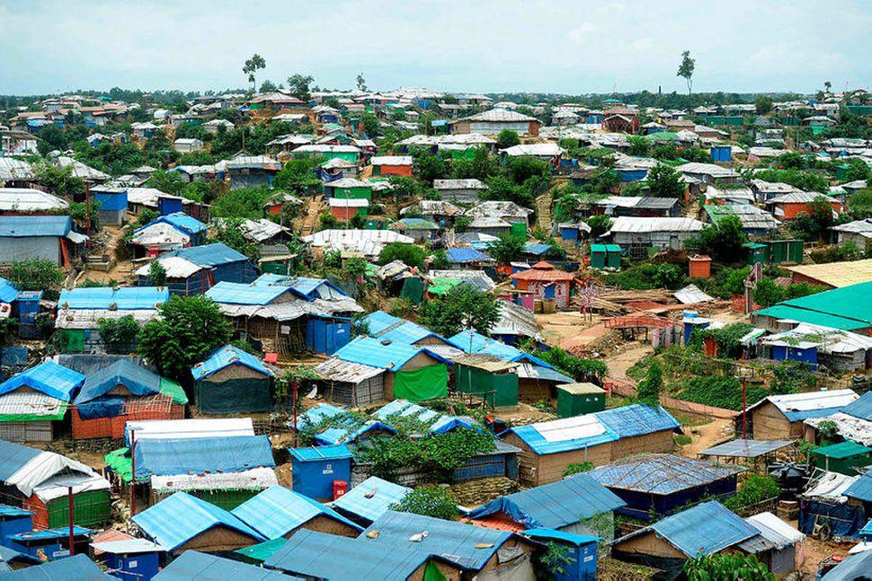 Flóttamannabúðir rohingja í Bangladess.