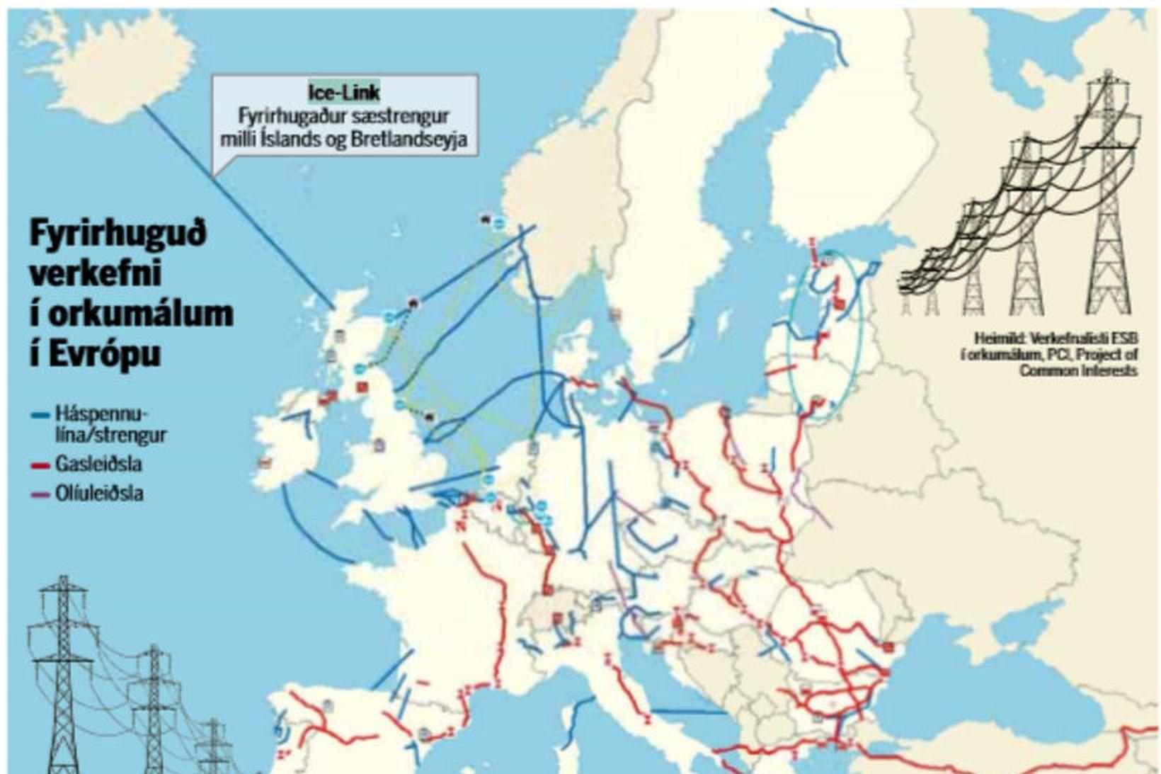 Ice Link-strengurinn er á lista ESB og fer ekki þangað …