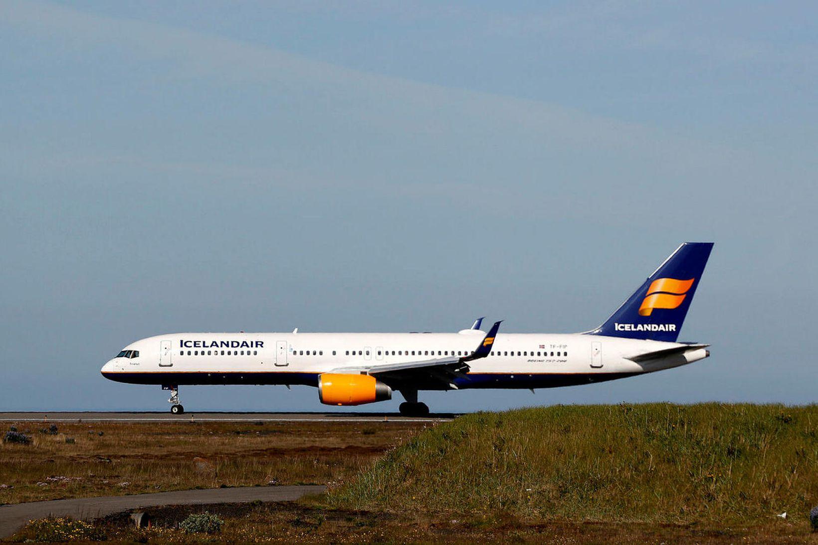 Breytingar hafa verið gerðar á flugvélum Icelandair í þeim tilgangi …