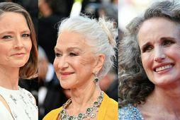 Jodie Foster, Helen Mirren og Andie MacDowell.