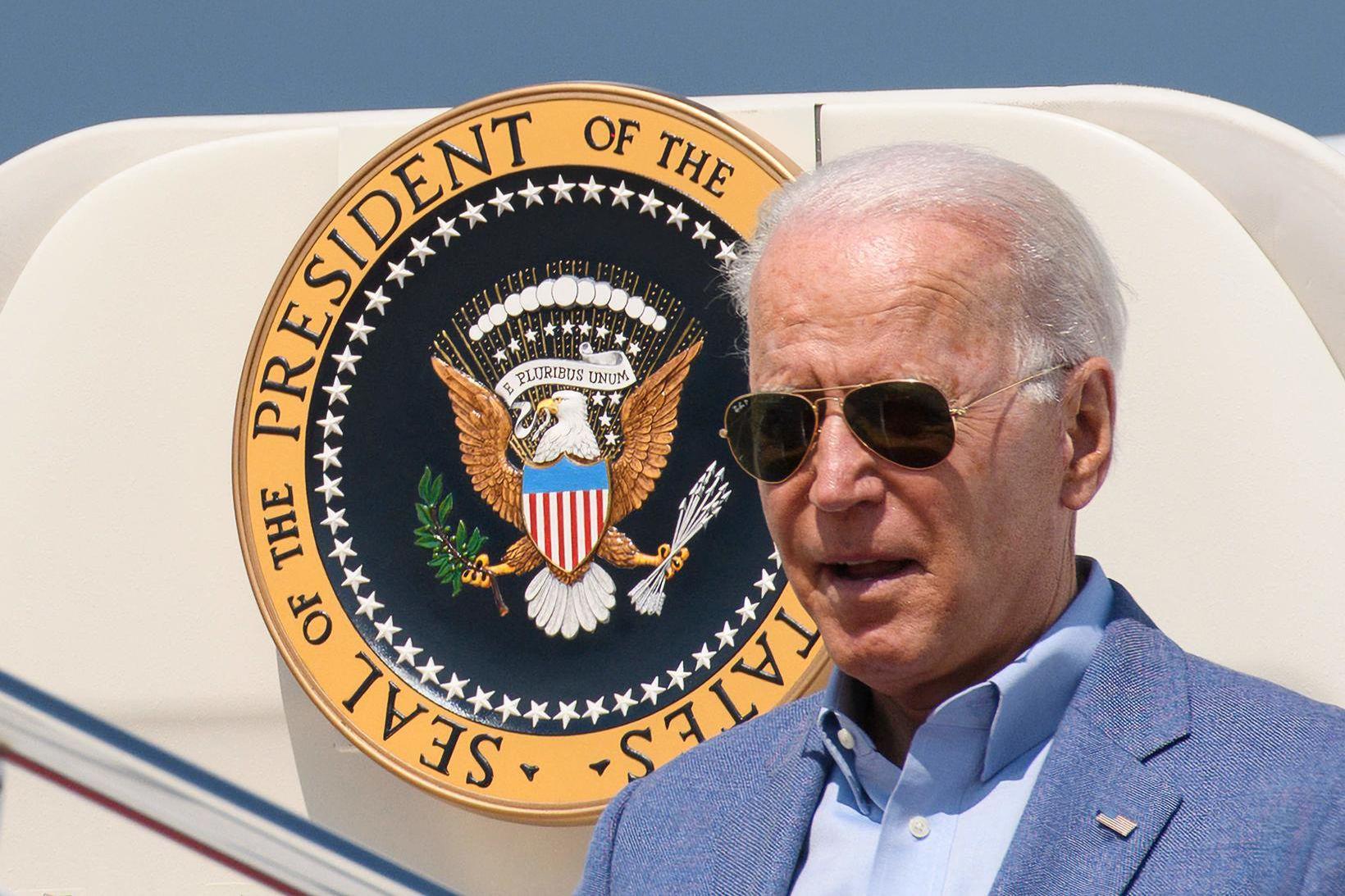 Joe Biden talar ítrekað um faraldur hinna óbólusettu þessi dægrin.